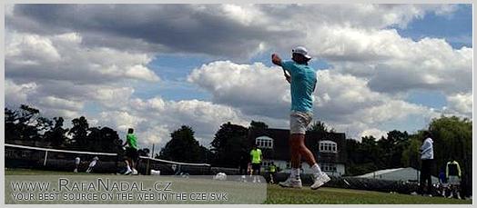 Wimbledon - Rafa trénuje